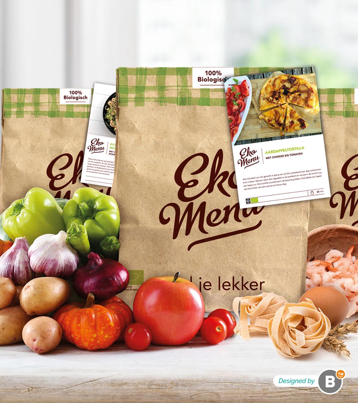 Packaging design Ekomenu duurzame verpakkingen