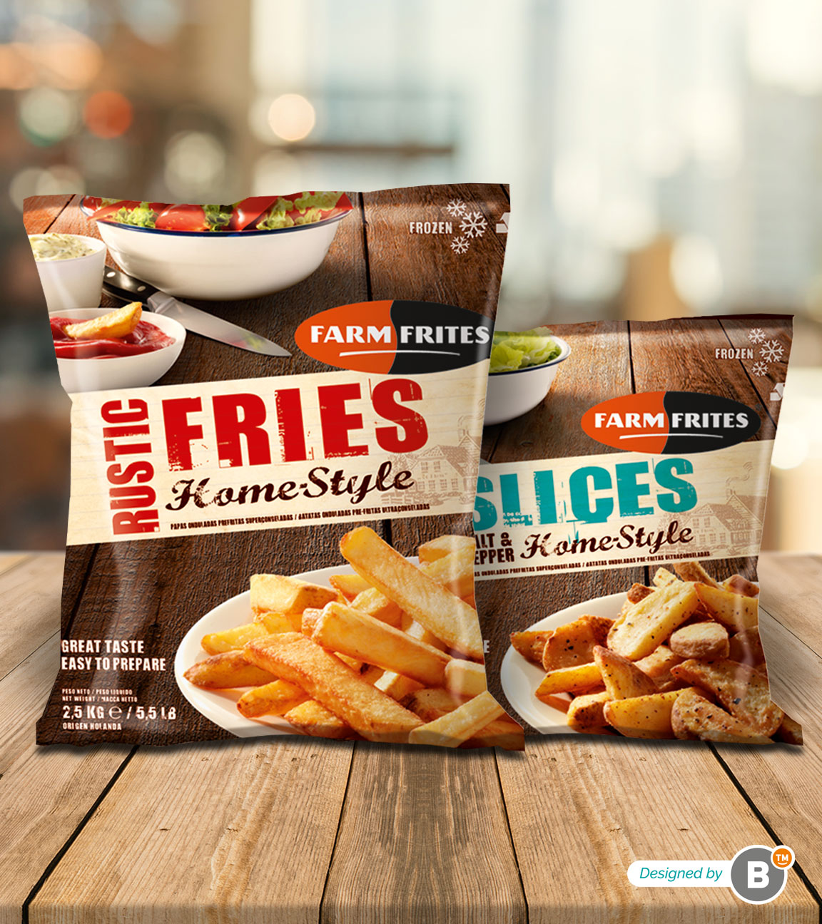 Packaging design Farm Frites Homestyle